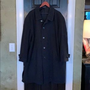 Andrew Fezza black cashmere blend coat XL
